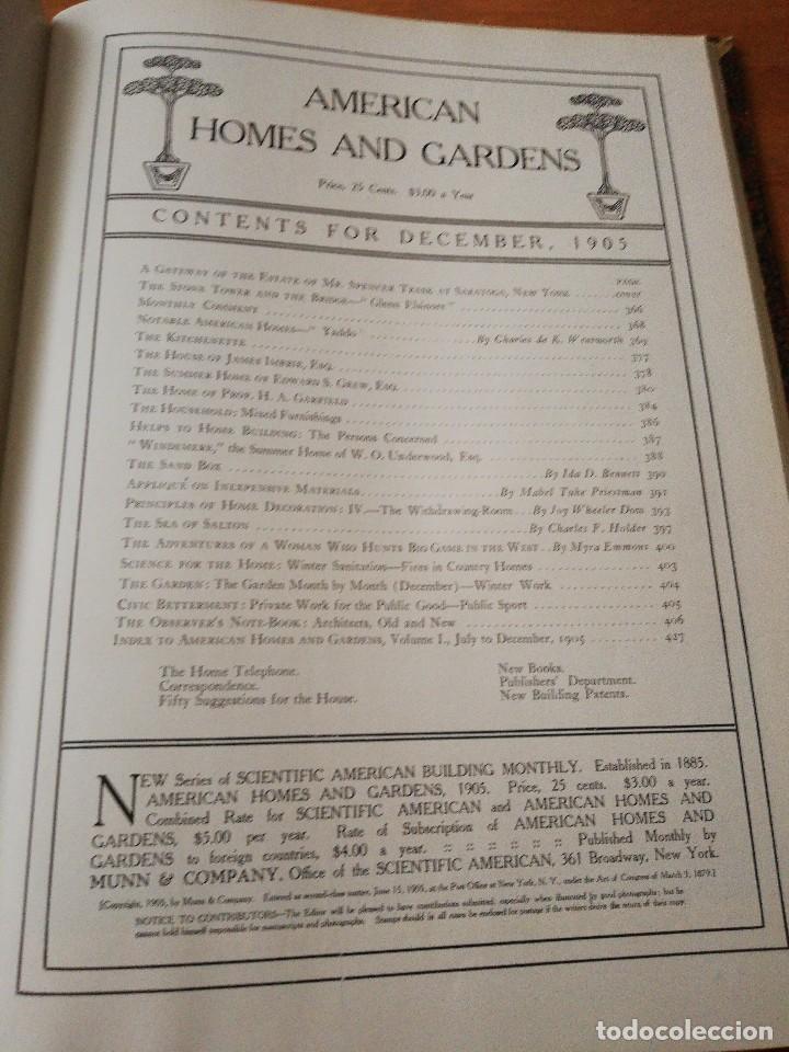 Libros antiguos: American Homes and Gardens. July-December. 1905 - Foto 32 - 125280495