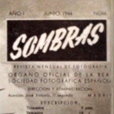 Libros antiguos: SOMBRAS. REVISTA OFICIAL DE LA REAL SOCIEDAD FOTOGRÁFICA ESPAÑOLA - VARIOS AUTORES. Lote 126243531