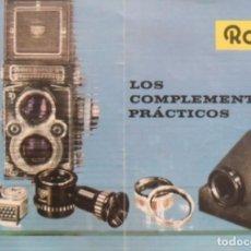 Libros antiguos: ROLLEI LOS COMPLEMENTOS PRÁCTICOS. ALEMANIA 1961.. Lote 131179176