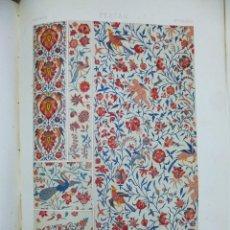 Libros antiguos: ESPECTACULAR LIBRO L'ORNEMENT POLYCHROME M.A. RACINET 100 LITOGRAFIAS DE TODOS LOS ESTILOS. Lote 131191772