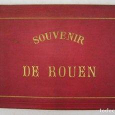 Libros antiguos: ÁLBUM DE 7 FOTOGRAFÍAS DE ROUEN, FRANCIA, CIRCA 1890, SOUVENIR. 22,5X15,5CM. Lote 132649194