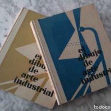 Libros antiguos: 2 ANTIGUOS LIBROS. EL DIBUJO DE ARTE INDUSTRIAL, EDICIONES LEDA, BARCELONA. 1959. TOMOS I Y II.. Lote 132983818