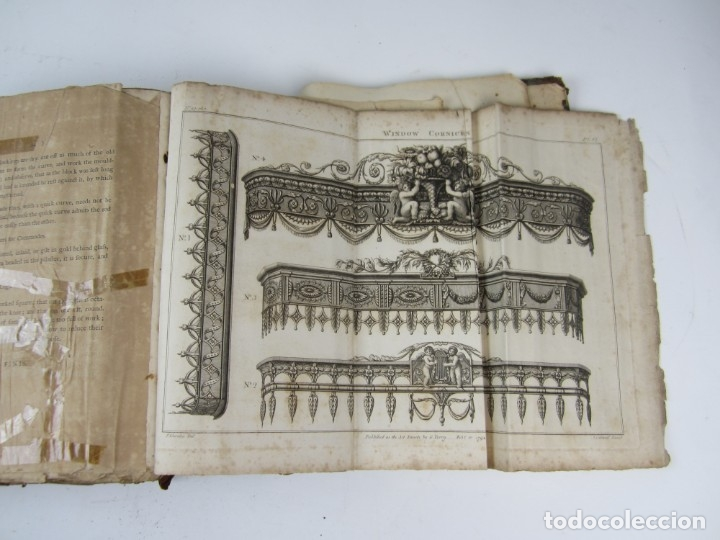 Libros antiguos: The Cabinet-Maker and Upholsterers Drawing-Book, Thomas Sheraton, 1791-1793, London. 23x30cm - Foto 9 - 133300098