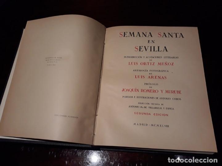 SEMANA SANTA EN SEVILLA - LUIS ORTIZ MUÑOZ - LUIS ARENAS, AÑO 1948 (208 LÁMINAS) (Libros Antiguos, Raros y Curiosos - Bellas artes, ocio y coleccion - Diseño y Fotografía)