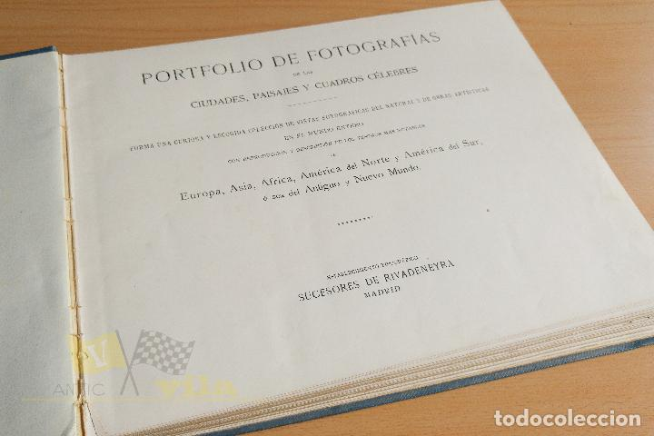 Libros antiguos: Portfolio de fotografias de las ciudades, paisajes y cuadros célebres - Foto 4 - 135894298
