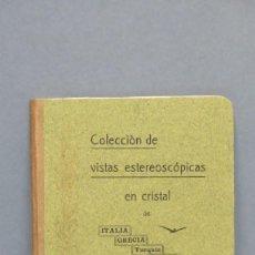 Libros antiguos: RARO! 1908.- COLECCION VISTAS ESTEREOSCOPIAS EN CRISTAL. ITALIA. GRECIA. TURQUIA. PALESTINA. EGIPTO. Lote 143005146