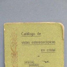 Libros antiguos: RARO! 1908.- COLECCION VISTAS ESTEREOSCOPIAS EN CRISTAL. ITALIA. GRECIA. TURQUIA. PALESTINA. EGIPTO. Lote 143005210