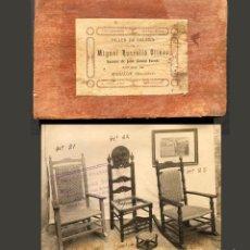 Libros antiguos: ANTIGUO CATÁLOGO DEL TALLER DE SILLERÍA MIGUEL ROSSELLÓ OLIVER - MANACOR MALLORCA - MUEBLE. Lote 144009502