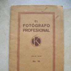 Libros antiguos: EL FOTOGRAFO PROFESIONAL.ENERO 1918.Nº 16. KODAK.MADRID.. Lote 144380754
