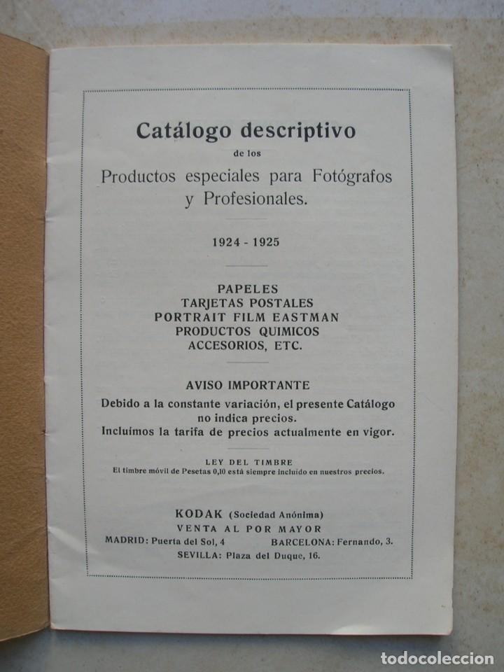 Libros antiguos: Productos especiales para fotógrafos.Kodak, S.A.Madrid.1924-1925 - Foto 2 - 144381210