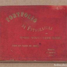 Libros antiguos: PORTFOLIO DE FOTOGRAFIAS DE CIUDADES, PAISAJES Y CUADROS CELEBRES DE TODOS LOS PAISES DEL MUNDO.. Lote 148261970