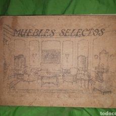 Libros antiguos: MUEBLES SELECTOS CARPETA COMPLETA CON 36 LAMINAS. Lote 151481340