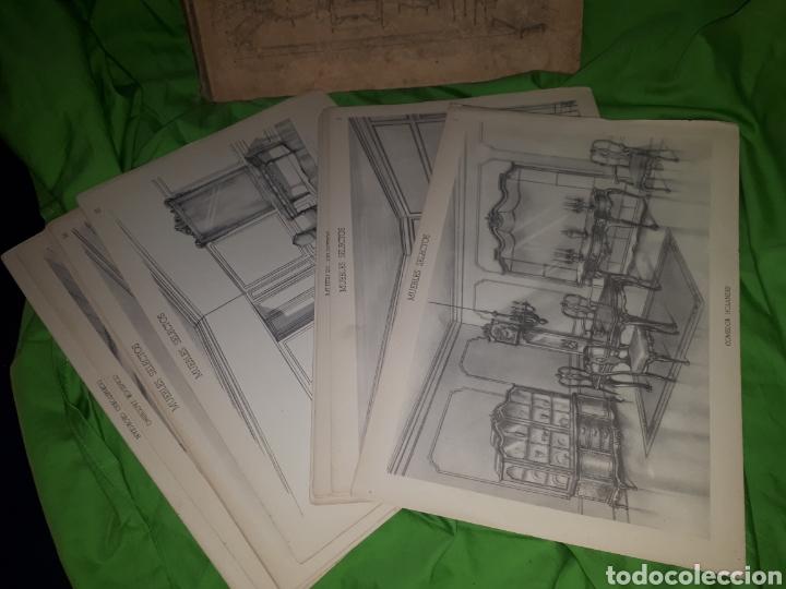 Libros antiguos: MUEBLES SELECTOS CARPETA COMPLETA CON 36 LAMINAS - Foto 4 - 151481340