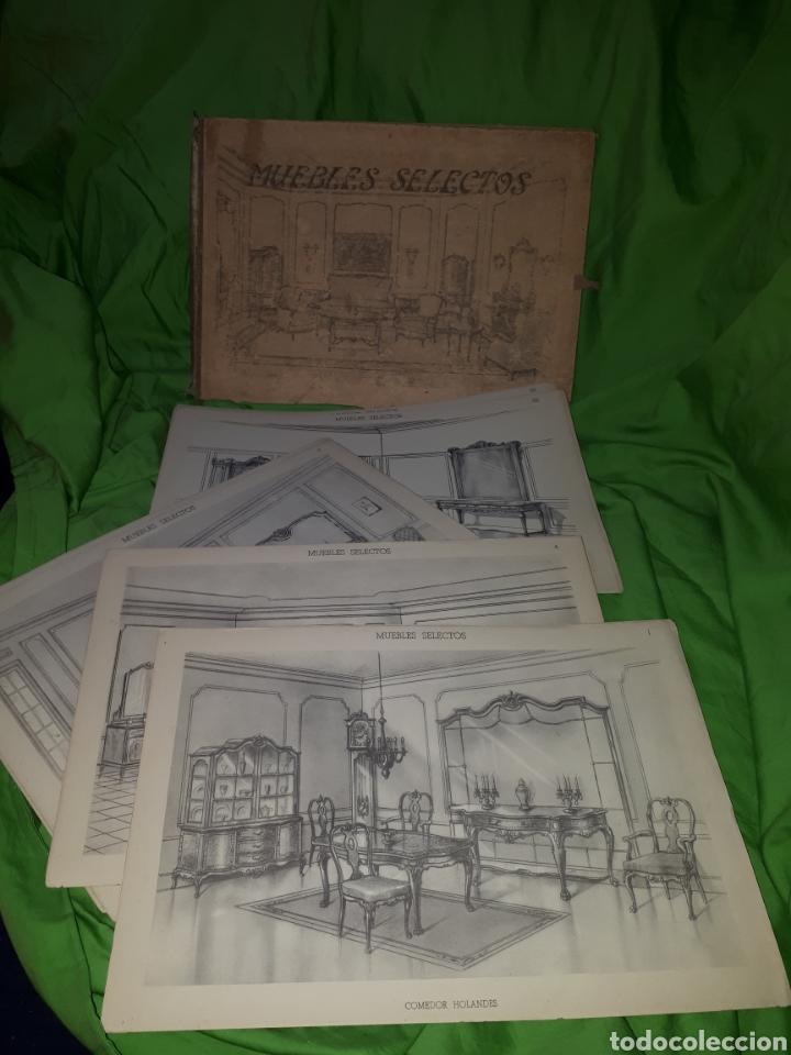 Libros antiguos: MUEBLES SELECTOS CARPETA COMPLETA CON 36 LAMINAS - Foto 5 - 151481340