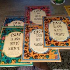 Libros antiguos: 5 LIBROS DE EL AÑO QUE TU NACISTE. Lote 152225566