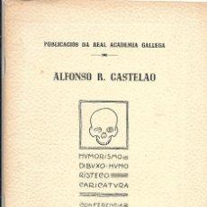 Libros antiguos: CASTELAO HUMORISMO. DIBUXO HUMORISTECO. CARICATURA CONFERENCIA EN LA R.A.G. 1920. Lote 154695938