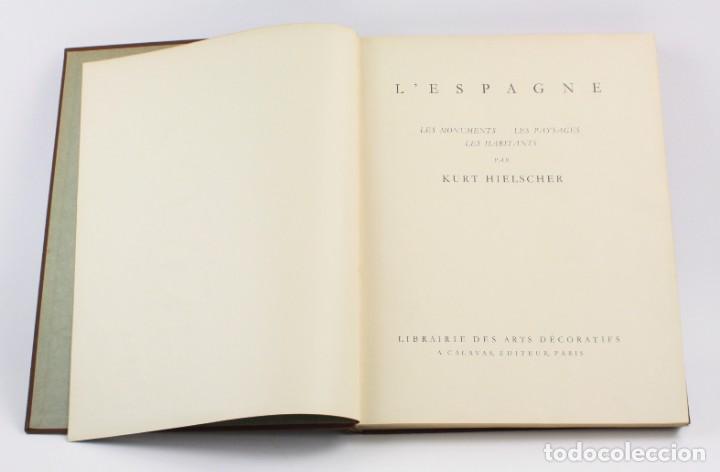 Libros antiguos: Lespagne, Kurt Hielscher, librairie des arts décoratifs, Paris. 31,5x25cm - Foto 2 - 155082654