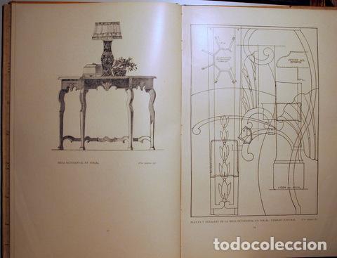 Libros antiguos: HILDESLEY - PROYECTOS DE MOBILIARIO Y DECORACIÓN INGLESES - Barcelona 1929 - Muy ilustrado - Foto 4 - 157687966