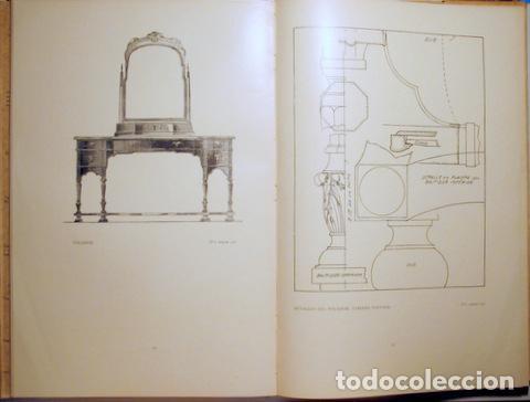 Libros antiguos: HILDESLEY - PROYECTOS DE MOBILIARIO Y DECORACIÓN INGLESES - Barcelona 1929 - Muy ilustrado - Foto 5 - 157687966