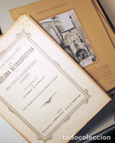 Libros antiguos: CAPMANY, A. - ÀLBUM FOTOGRÀFIC BARCELONA RETROSPECTIVA 1800-1900 - Barcelona 1929 - 60 Fotografies - Foto 2 - 157688078