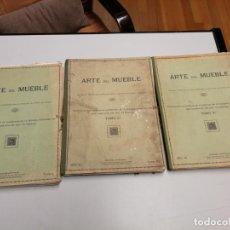 Libros antiguos: ARTE DEL MUEBLE REVISTA DE MOBILIARIOS VICTOR DE FALGÁS TOMO 1 2 3 CUADERNOS DE DISEÑO Y DECORACION. Lote 157764678