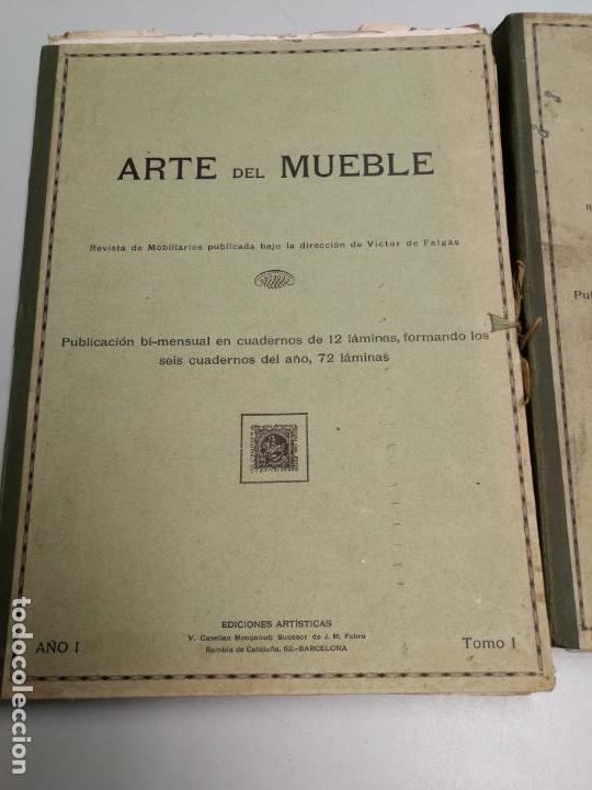 Libros antiguos: ARTE DEL MUEBLE REVISTA DE MOBILIARIOS VICTOR DE FALGÁS TOMO 1 2 3 CUADERNOS DE DISEÑO Y DECORACION - Foto 2 - 157764678