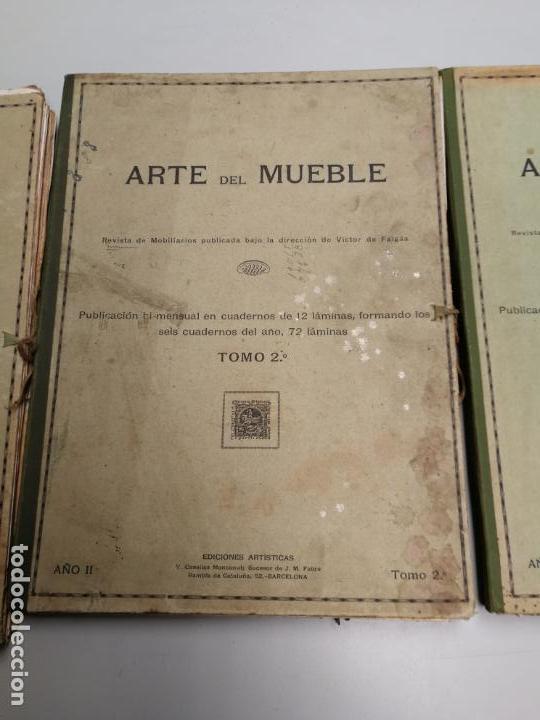 Libros antiguos: ARTE DEL MUEBLE REVISTA DE MOBILIARIOS VICTOR DE FALGÁS TOMO 1 2 3 CUADERNOS DE DISEÑO Y DECORACION - Foto 3 - 157764678