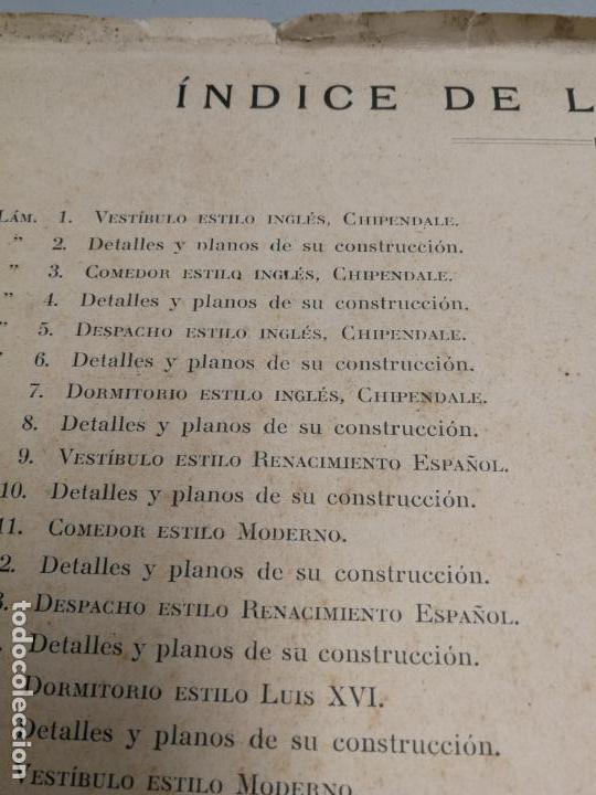 Libros antiguos: ARTE DEL MUEBLE REVISTA DE MOBILIARIOS VICTOR DE FALGÁS TOMO 1 2 3 CUADERNOS DE DISEÑO Y DECORACION - Foto 6 - 157764678