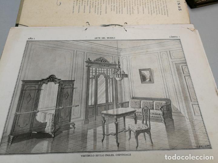 Libros antiguos: ARTE DEL MUEBLE REVISTA DE MOBILIARIOS VICTOR DE FALGÁS TOMO 1 2 3 CUADERNOS DE DISEÑO Y DECORACION - Foto 7 - 157764678