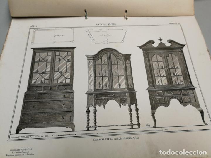 Libros antiguos: ARTE DEL MUEBLE REVISTA DE MOBILIARIOS VICTOR DE FALGÁS TOMO 1 2 3 CUADERNOS DE DISEÑO Y DECORACION - Foto 8 - 157764678