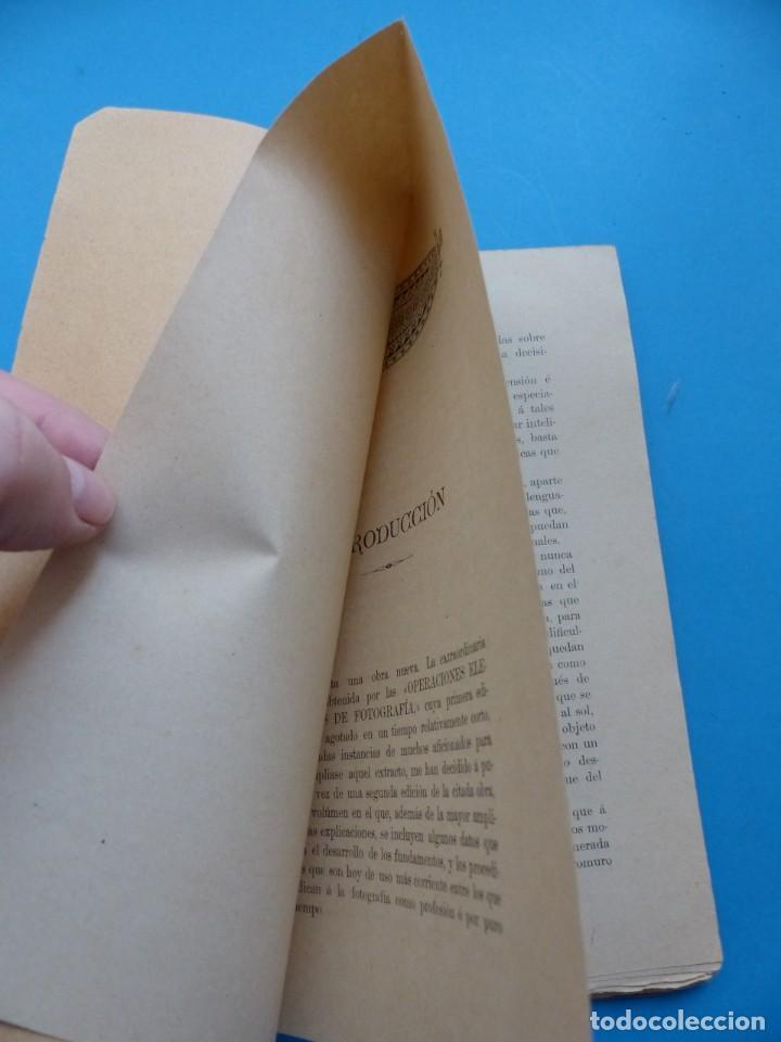 Libros antiguos: RESUMEN DE FOTOGRAFIA - J. DONAT COMANDANTE DE ARTILLERIA, AÑOS 1900-1920, VALENCIA - Foto 3 - 165607266