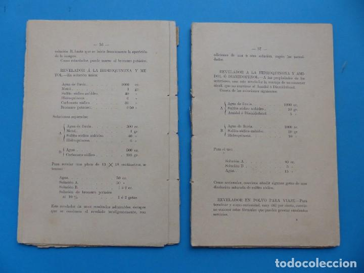 Libros antiguos: RESUMEN DE FOTOGRAFIA - J. DONAT COMANDANTE DE ARTILLERIA, AÑOS 1900-1920, VALENCIA - Foto 5 - 165607266