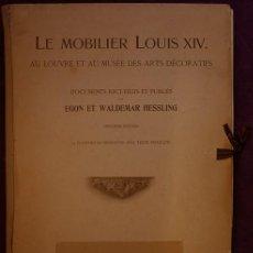 Livros antigos: MUEBLES ANTIGUOS. LÁMINAS LE MOBILIER LOUIS XIV. Lote 168458556