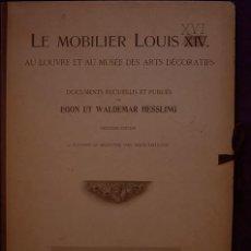 Livros antigos: MUEBLES ANTIGUOS. LÁMINAS LE MOBILIER LOUIS XVI. Lote 168458688