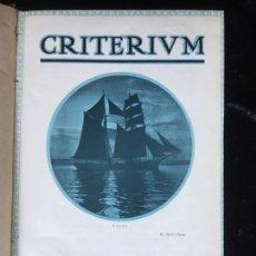 Libros antiguos: 1921 - REVISTA FOTOGRAFICA CRITERIUM - AÑO COMPLETO - 12 NÚMEROS. Lote 168585100