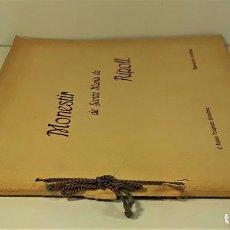 Libros antiguos: MONESTIR DE SANTA MARÍA DE RIPOLL. L. ROISIN. BARCELONA. SIGLO XX.. Lote 168797924