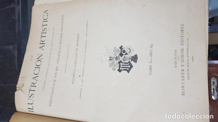 Libros antiguos: LA ILUSTRACIÓN ARTÍSTICA TOMO X 1891 MONTANER Y SIMÓN , MAGNIFICOS GRABADOS - Foto 5 - 169282112