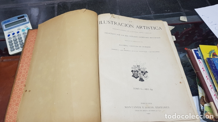 Libros antiguos: LA ILUSTRACIÓN ARTÍSTICA TOMO X 1891 MONTANER Y SIMÓN , MAGNIFICOS GRABADOS - Foto 7 - 169282112