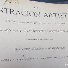 Libros antiguos: LA ILUSTRACIÓN ARTÍSTICA TOMO X 1891 MONTANER Y SIMÓN , MAGNIFICOS GRABADOS. Lote 169282112