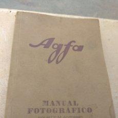 Libros antiguos: LIBRO MANUAL FOTOGRÁFICO AGFA - DR .M. ANDERSEN. Lote 170196162