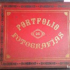 Libros antiguos: PORTFOLIO DE FOTOGRAFÍAS DE LAS CIUDADES, PAISAJES Y CUADROS CÉLEBRES. Lote 170853385