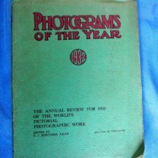 Libros antiguos: PHOTOGRAMS OF THE YEAR 1932. THE ANNUAL REVIEW FOR 1933, EDITED BY F. J. MORTIMER.. Lote 171998464