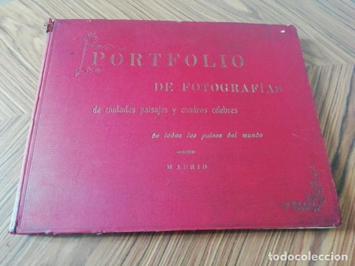 PORTAFOLIO DE FOTOGRAFIAS . PAISAJES , CIUDADES ,INDIGENAS ...MADRID . 1896 (Libros Antiguos, Raros y Curiosos - Bellas artes, ocio y coleccion - Diseño y Fotografía)