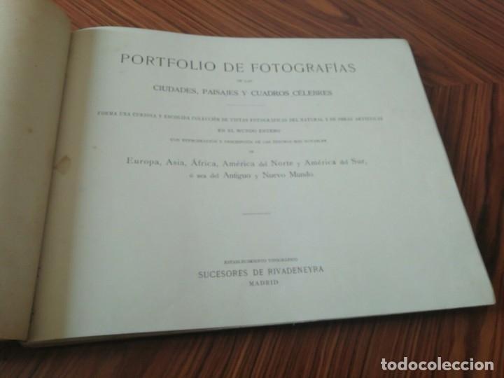 Libros antiguos: Portafolio de Fotografias . Paisajes , Ciudades ,Indigenas ...Madrid . 1896 - Foto 2 - 172255163