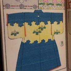 Libros antiguos: KIMONOS. ANTIGUO CATÁLOGO JAPONÉS EN COLOR 48 PÁGINAS TELAS VESTIDO JAPÓN. Lote 173012452