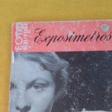 Libros antiguos: LIBRO DE FOTOGRAFIA(EXPOSIMETROS). Lote 173121795