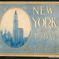 Libros antiguos: NUMULITE L0995 NEW YORK OF TO-DAY 65 NEW VIEWS NUEVA YORK FOTOGRAFÍA ARQUITECTURA RASCACIELOS. Lote 175829677