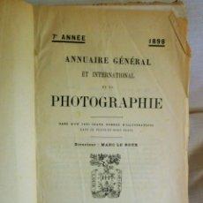 Libros antiguos: ANNUAIRE GÉNÉRAL INTERNATIONAL DE LA PHOTOGRAPHIE-1898-GRAND NOMBRE D´ILLUSTRATIONS-LIBR PLON-PARIS. Lote 176000612