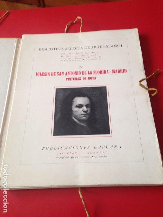Libros antiguos: San Antonio de la Florida. Biblioteca selecta de arte español IV - Foto 2 - 176890959