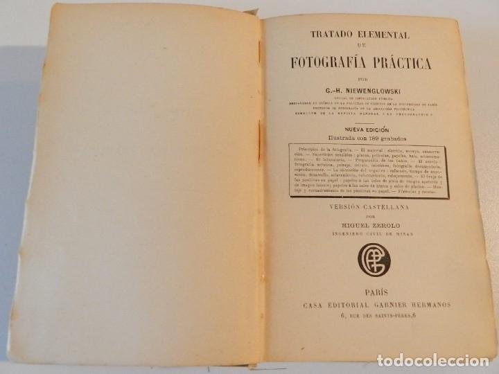Libros antiguos: TRATADO DE FOTOGRAFIA PRACTICA NIEWENGLOWSKI 1900 ILUSTRADO 1ª EDICIÓN - LIBRO FOTOGRAFÍA - Foto 2 - 178055435